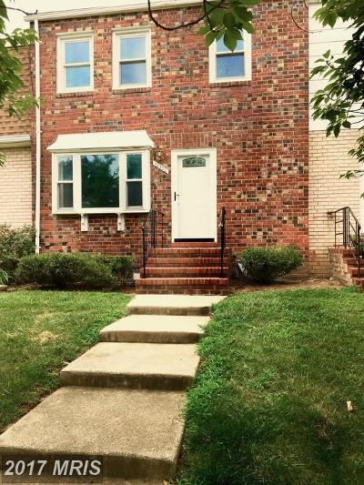 Upper Marlboro Townhouse For Sale: 12302 Chesterton Drive #61