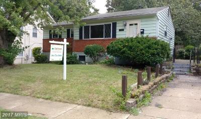 Prince Georges Single Family Home For Sale: 9105 Ardwick Ardmore Road