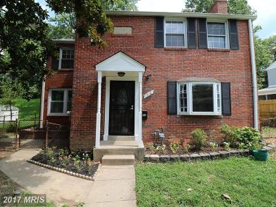 Takoma Park MD Single Family Home For Sale: $399,000