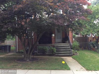 Hyattsville Single Family Home For Sale: 6014 39th Avenue