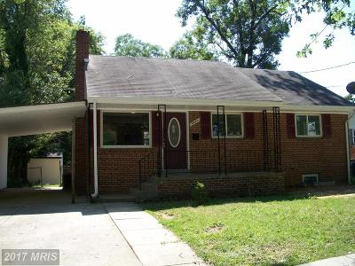 Hyattsville Single Family Home For Sale: 8403 14th Avenue