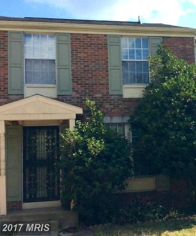 Beltsville Townhouse For Sale: 6225 Moonlight Court