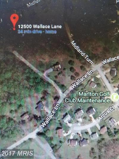 Upper Marlboro Residential Lots & Land For Sale: 12500 Wallace Lane