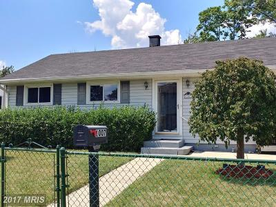Laurel, Glenn Dale Single Family Home For Sale: 1007 5th Street