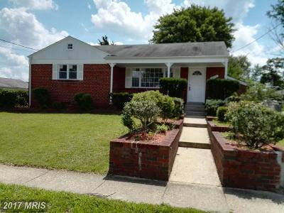 Temple Hills Single Family Home For Sale: 3615 Riviera Street