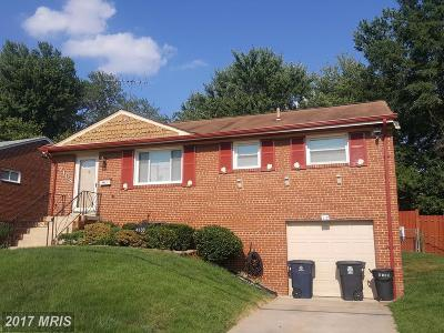 Temple Hills Single Family Home For Sale: 4108 Lyons Street