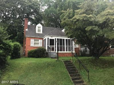 Hyattsville Single Family Home For Sale: 3925 Madison Street