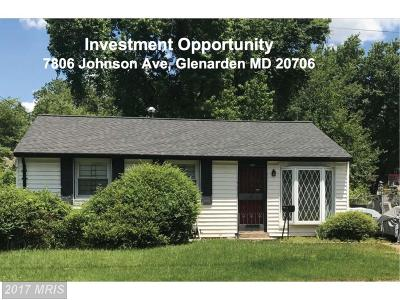 Glenarden Single Family Home For Sale: 7806 Johnson Avenue