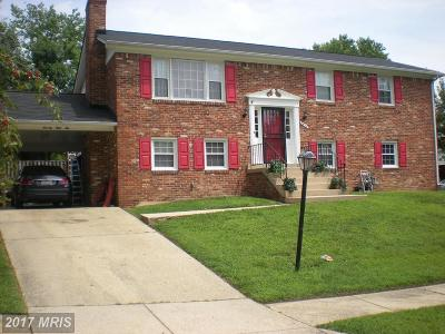 Upper Marlboro Single Family Home For Sale: 7810 Locris Court