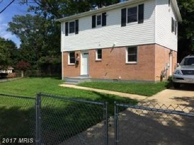 Capitol Heights Single Family Home For Sale: 600 Suffolk Avenue