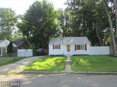 Hyattsville Single Family Home For Sale: 4012 73rd Avenue