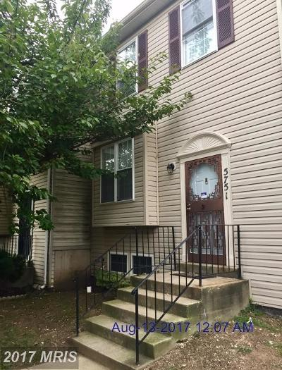 District Heights Townhouse For Sale: 5751 Hil Mar Circle