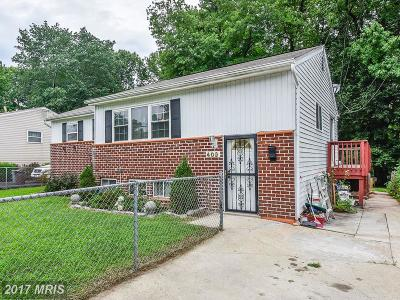 Capitol Heights Single Family Home For Sale: 409 71st Avenue