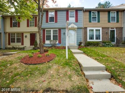 Capitol Heights Townhouse For Sale: 406 Shady Glen Drive