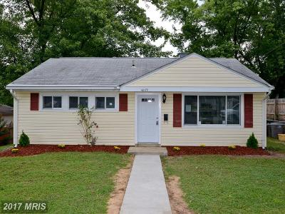 Hyattsville Single Family Home For Sale: 4809 67th Avenue