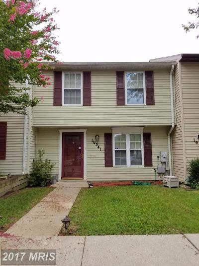Bowie Townhouse For Sale: 16341 Pennsbury Way