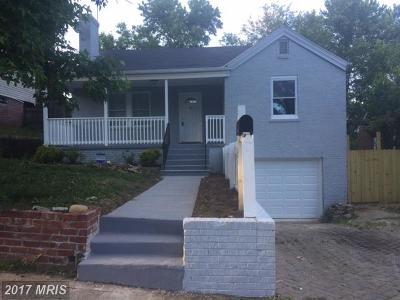Capitol Heights Single Family Home For Sale: 4710 Pard Road E
