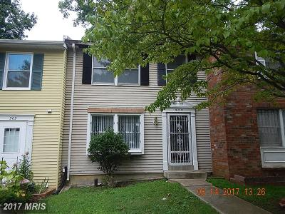 Capitol Heights Townhouse For Sale: 303 Possum Court
