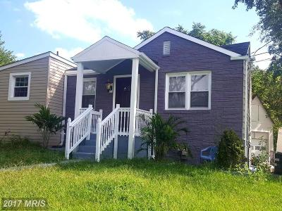 Capitol Heights Single Family Home For Sale: 5101 Addison Road