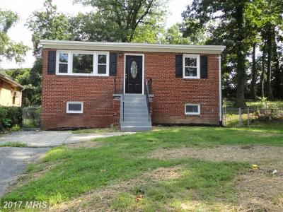 Capitol Heights Single Family Home For Sale: 1608 Shamrock Avenue