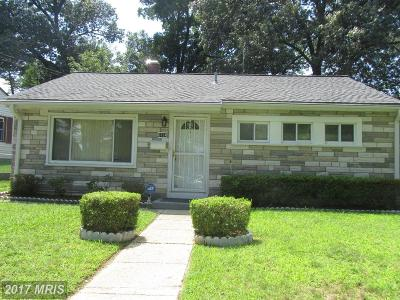 Hyattsville Single Family Home For Sale: 3734 Ingalls Avenue
