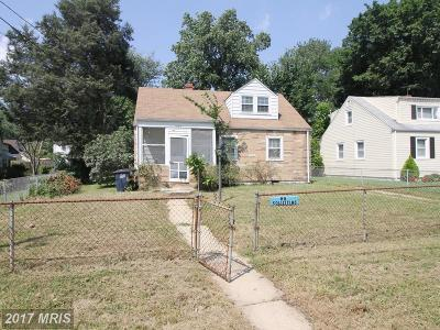 Hyattsville Single Family Home For Sale: 3106 Kimberly Road