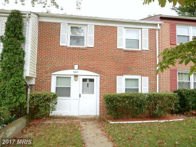 Upper Marlboro Townhouse For Sale: 8821 Fairhaven Avenue