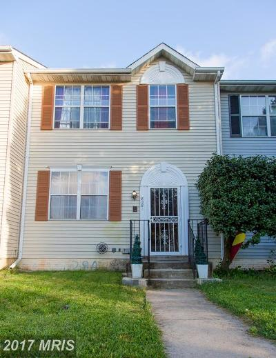 Capitol Heights Townhouse For Sale: 828 Alabaster Court