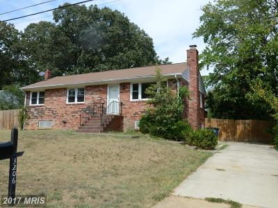 Fort Washington Single Family Home For Sale: 3206 Dalewood Road