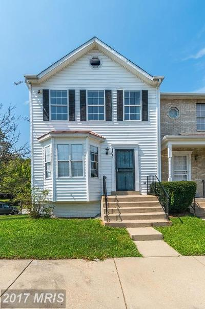 Capitol Heights Townhouse For Sale: 1325 Dillon Court