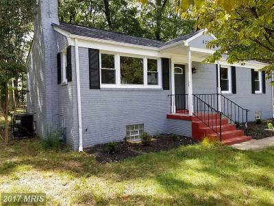 Suitland Single Family Home For Sale: 6207 Walton Avenue