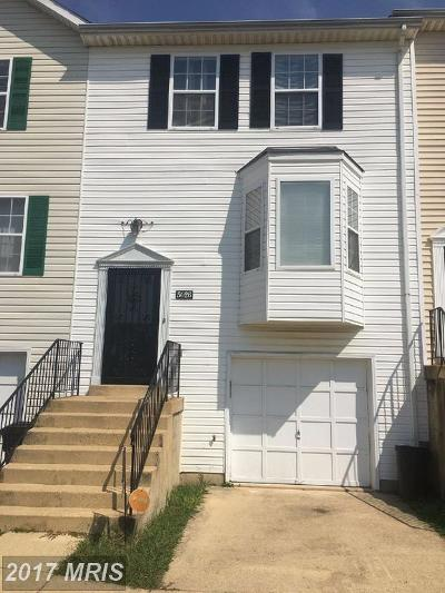 District Heights Townhouse For Sale: 5026 Hil Mar Drive