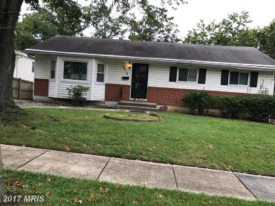 Oxon Hill Single Family Home For Sale: 5619 Dundalk Drive