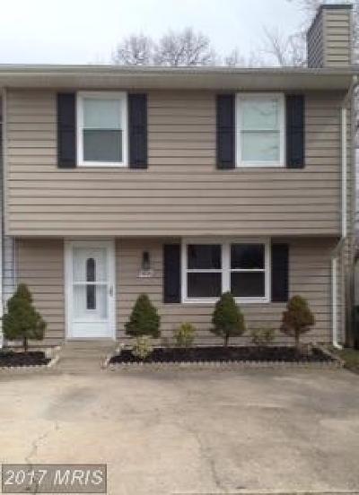 Laurel Townhouse For Sale: 7626 Haines Court