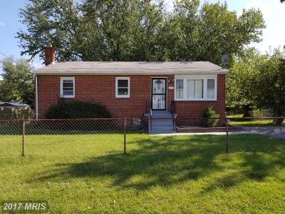 District Heights Single Family Home For Sale: 7705 Mane Lane