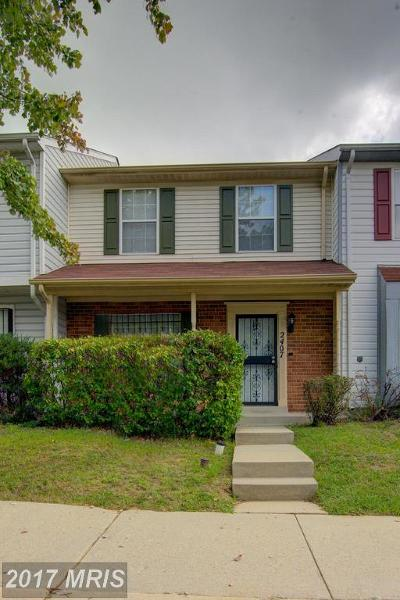 Oxon Hill Townhouse For Sale: 2407 Rosecroft Village Circle W