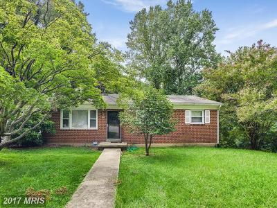 Fort Washington Single Family Home For Sale: 1601 Lee Road