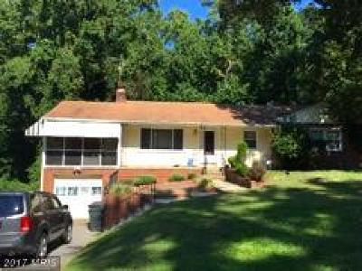 Temple Hills Single Family Home For Sale: 4914 Sharon Road