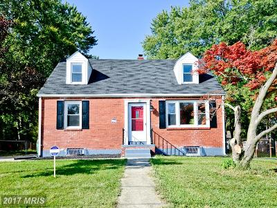 Suitland Single Family Home For Sale: 4411 Reamy Drive