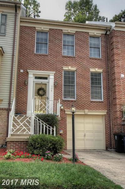 Bowie Townhouse For Sale: 704 Streamside Drive
