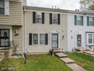 Capitol Heights Townhouse For Sale: 905 Hilldropt Court