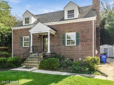 Hyattsville Single Family Home For Sale: 7200 Wells Parkway