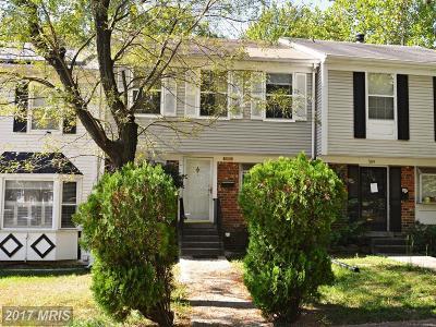 Lanham Townhouse For Sale: 7011 Woodstream Lane