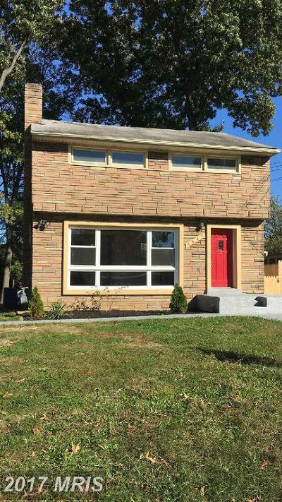 Suitland Single Family Home For Sale: 1902 Porter Avenue