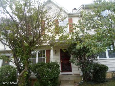 Landover Townhouse For Sale: 7805 Suiter Way