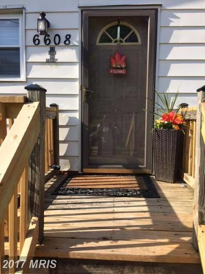 Capitol Heights Single Family Home For Sale: 6608 Clinglog Street