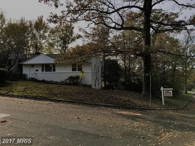 Berwyn Heights Single Family Home For Sale: 8528 60th Place