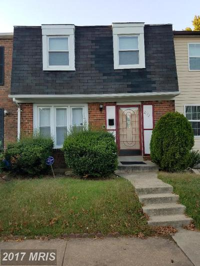 Temple Hills Townhouse For Sale: 2132 Catskill Street