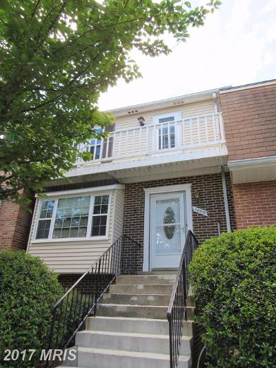 Laurel Townhouse For Sale: 14916 Cherrywood Drive #5D