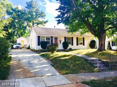 Oxon Hill Single Family Home For Sale: 1009 Dumfries Street